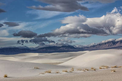 Digital Art - White Sands Rolling Monds by Georgianne Giese