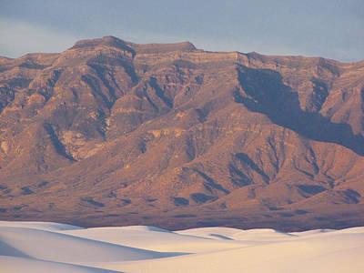 Sand Dune Photograph - White Sands San Andres Sunrise 2 by Roger Burkart