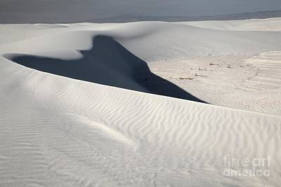 Photograph - White Sands Shadow by Adam Jewell