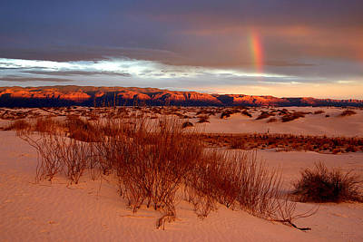 Art Print featuring the photograph White Sands Sunset by Christopher McKenzie