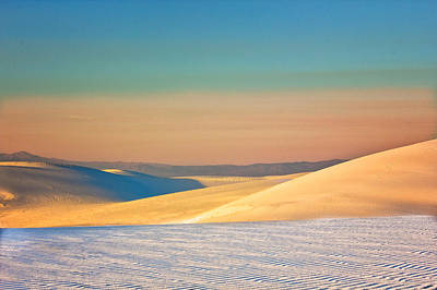 Digital Art - White Sands Sunset by Georgianne Giese