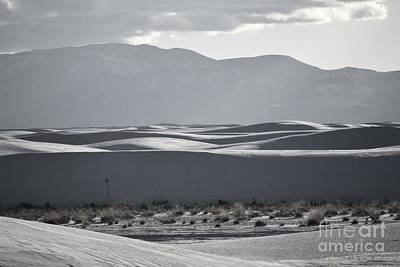 Photograph - White Sands Winter Mountains by Andrea Hazel Ihlefeld