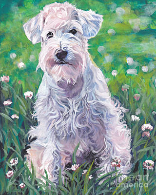 Painting - White Schnauzer by Lee Ann Shepard