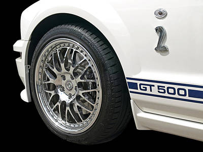 American Muscle Photograph - White Shelby Gt500 by Gill Billington