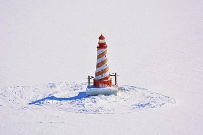 Photograph - White Shoal Light  by Keith Stokes