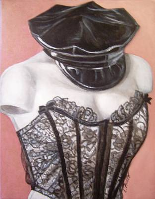 Art Print featuring the painting White Shoulders by Laura Aceto