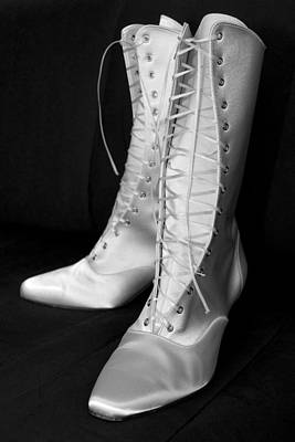 Photograph - White Silk Boots by Mick House