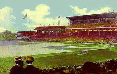 White Sox Ball Park In Chicago Il Around 1915 Art Print by Dwight Goss