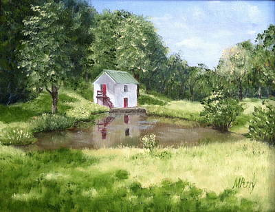 Painting - White Springhouse by Margie Perry