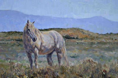 Painting - White Stallion by Karen McLain