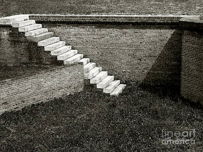 White Steps At Fort Barrancas Art Print