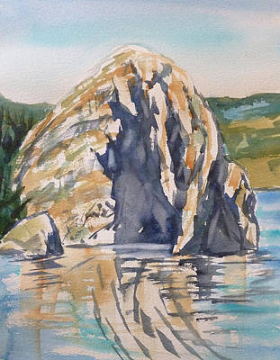 Painting - White Stone by Lynne Haines