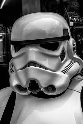 Dublin Photograph - White Stormtrooper by David Doyle
