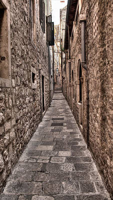 Photograph - White Streets Of Dubrovnik No3 by Weston Westmoreland
