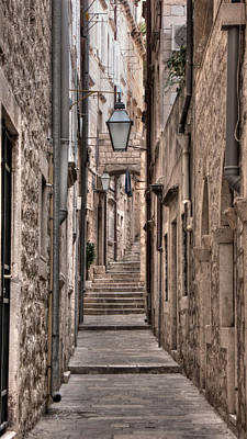 Photograph - White Streets Of Dubrovnik No4 by Weston Westmoreland