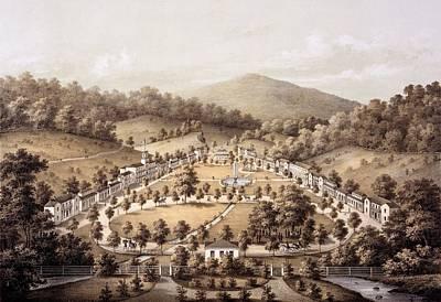 Virginia Drawing - White Sulphur Springs, Montgomery County, Va by Edward Beyer