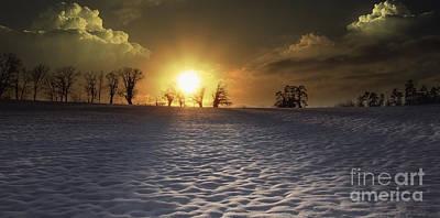 White Sunset Art Print