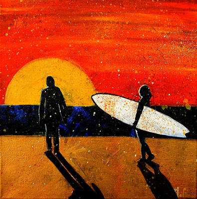 Painting - White Surfboard by Khryztof