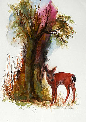 White Tail Art Print by Sibby S