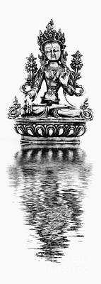Photograph - White Tara Deity by Tim Gainey