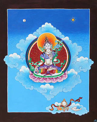White Tara Art Print by Sarah Grubb