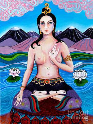 Tibetan Buddhism Painting - White Tara's Compassion by Peta Garnaut