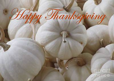 Digital Art - White Thanksgiving Pumpkins by JH Designs