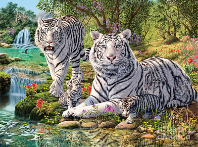 White Tiger Clan Print by Steve Read