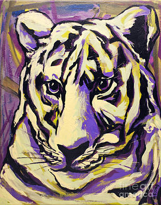 Mascot Drawing - White Tiger Not by Becca Lynn Weeks
