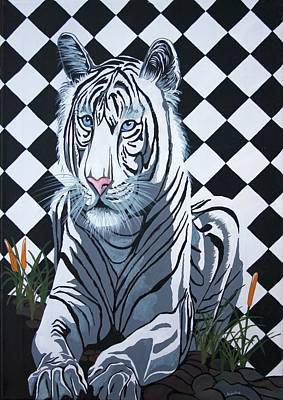 Painting - White Tiger by Tracey Harrington-Simpson
