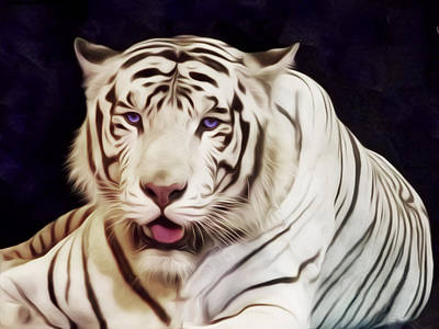 Photograph - White Tiger by William Shevchuk