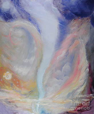 Painting - White Tornado by Roger Clark