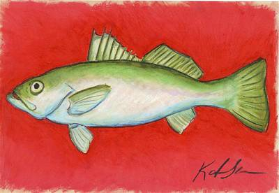 Pastel - White Trout by Katie Sasser