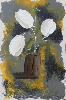 Painting - White Tulips by Leana De Villiers