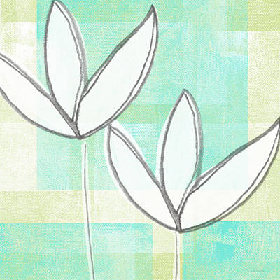 Florals Royalty-Free and Rights-Managed Images - White Tulips by Linda Woods