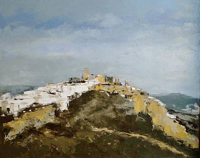 Painting - White Village/spain by Karina Plachetka