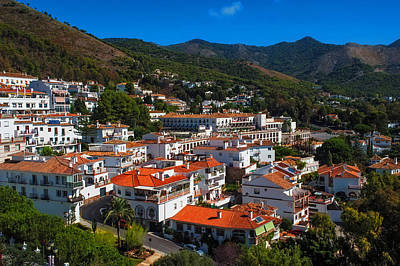 Red Roof Photograph - White Village Of Spain Mijas by Jenny Rainbow