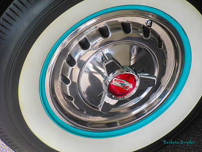 Photograph - White Wall Tire And Spinners by Barbara Snyder