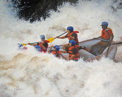 White Water Rafting Painting - White Water Adventure by Richard Ginnett