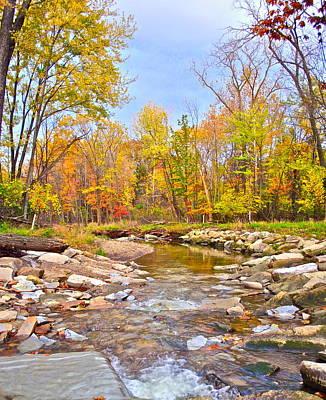White Water Autumn Art Print