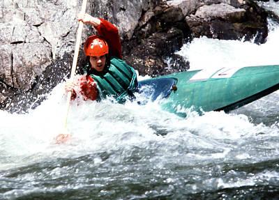 Photograph - White Water Kayaking by Robert  Rodvik