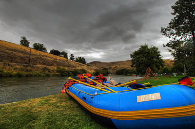 Central Photograph - White Water Rafting Boat by David Gn