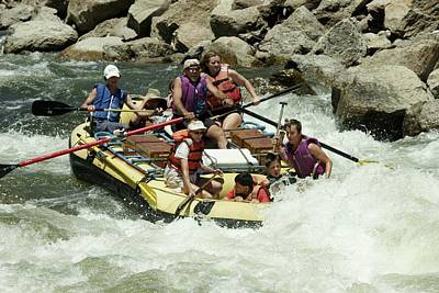 Photograph - White Water Rafting by Christopher James