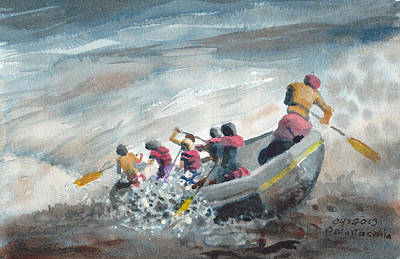 White Water Rafting Painting - White Water Rafting by Peter Martocchio