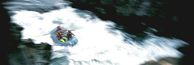 White Water Rafting Salmon River Ca Usa Art Print by Panoramic Images