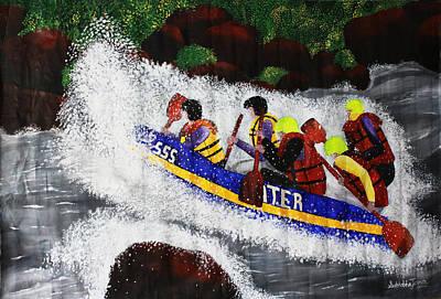 White Water Rafting Painting - White Water Rafting by Sushobha Jenner
