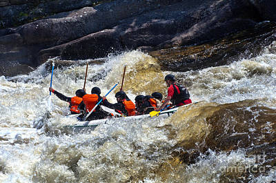 Photograph - White Water Rafting West Penobscot River by Glenn Gordon