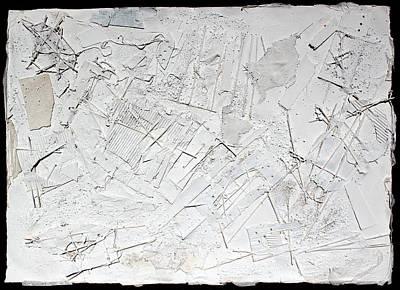 Cardboard Mixed Media - White Web Collage 6 by Hari Thomas
