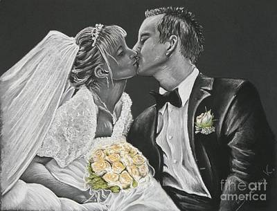 White Wedding Art Print by Katharina Filus