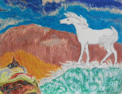 Pastel - White Wind -- Age 12 by Dawn Senior-Trask